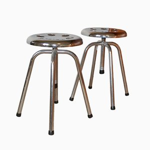 Vintage Metal Medical Stools, 1965, Set of 2