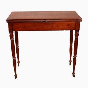 Antiker französischer Mahagoni Spieltisch aus der Restaurationsphase