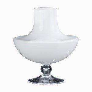 Jarrón Juno de vidrio blanco