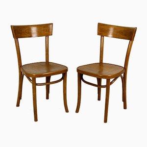 Viintage Esszimmerstühle aus Buche, 1950er, 2er Set