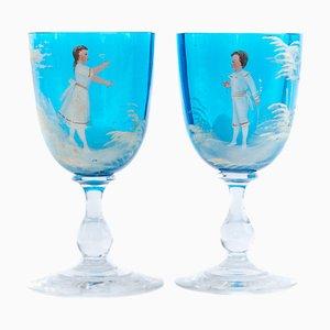 Biedermeier Goblets, 1860s, Set of 2