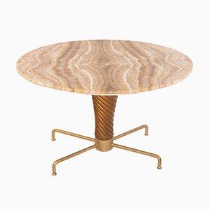 Onyx & Brass Coffee Table by Mario Quarti, 1950s