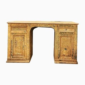 Antique French Oak Panelled Desk