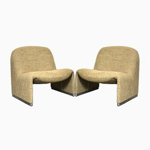 Alky Lounge Chairs by Giancarlo Piretti for Castelli / Anonima Castelli, 1970s, Set of 2