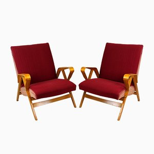 Mid-Century Armchairs for Tatra, 1960s, Set of 2