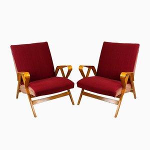 Mid-Century Armlehnstühle für Tatra, 1960er, 2er Set