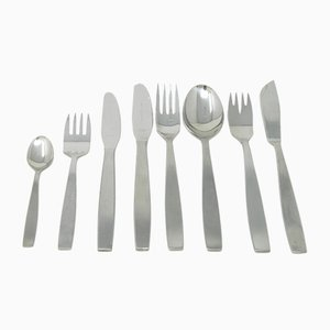 Mid-Century Stainless Steel Tableware Set by Helmut Alder for Amboss, Set of 55