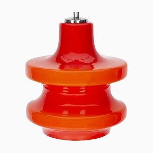 Rote Deckenlampe aus Glas von Peil & Putzler, 1970er