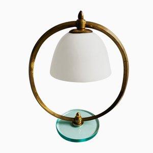 Lampada da tavolo in ottone, Italia, anni '50