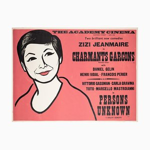 Charming Boys / Persons Unknown Academy Cinema Movie Poster, 1959