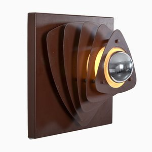 Brown Metal Sconce from E+S Moderne Leuchten, 1960s