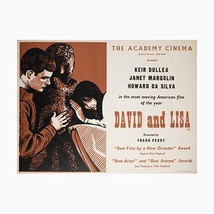 British David and Lisa Film Poster by Peter Strausfeld, 1963