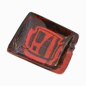Glasierter Keramik Aschenbecher von Victor Cerrato, 1960er