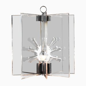 Perspex & Chrom 524 Tischlampe von Franco Albini & Franca Helg für Arteluce, 1963