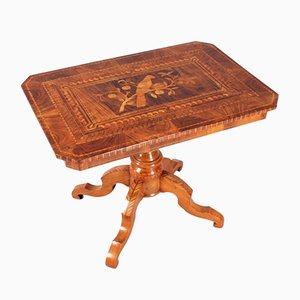 Antique Italian Marquetry & Magohany Coffee Table, 1800s