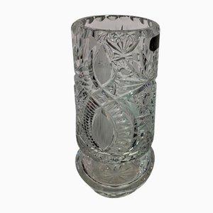 Polish Crystal Vase from Zawiercie, 1970s