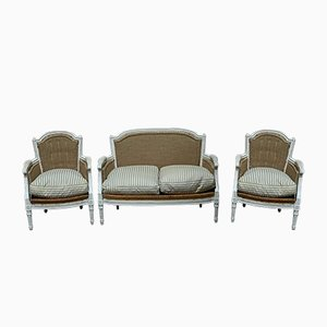 Antique French Living Room Set, Set of 3