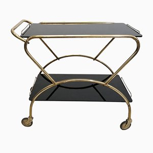 Mid-Century Brass & Glass Trolley