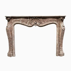 Louis XV Era French Marble Fireplace