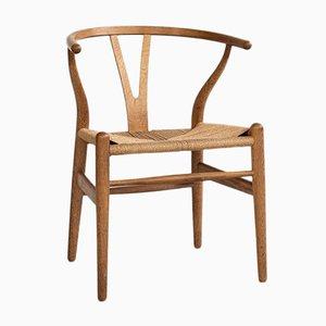 Mid-Century Wishbone Chair in Oak by Hans Wegner for Carl Hansen & Søn