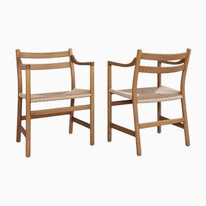 Dänische Mid-Century Ch46 Stühle von Hans Wegner für Carl Hansen & Søn, 8er Set