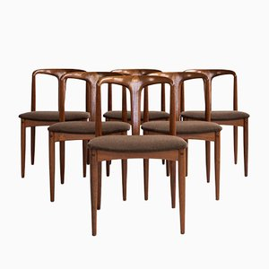 Mid-Century Danish Juliane Chairs in Teak by Johannes Andersen for Uldum, Set of 6
