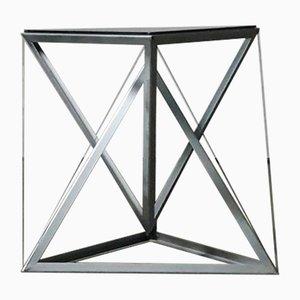Triangular Constructivist Side Table, 1970s