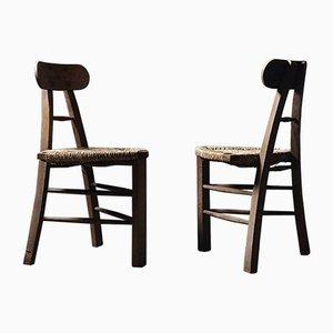 Architektonischer Dreibein Stuhl mit Dreieckigem Sitz