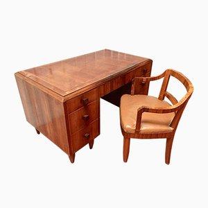 Art Deco Schreibtisch und Sessel