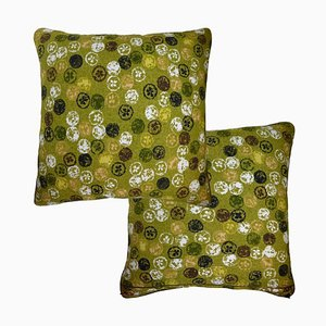Vintage Monoprinty Lemons Cushion from Nichollette Yardley-Moore