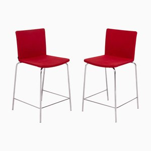 Nex Red Stools by Mario Mazzer for Poliform, Set of 2