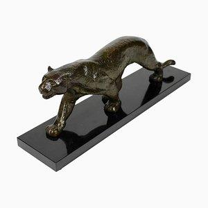 Art Deco Bronze PanTher Skulptur