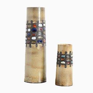 Ceramic Vases from Perignem, 1960s, Set of 2