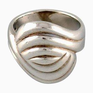 Schwedischer Silberschmied Ring aus Sterlingsilber, 1960er