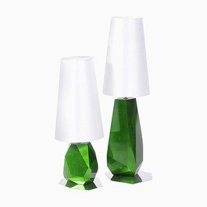 Lamp with Silk Shade