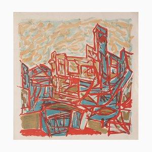 Inconnue - Composition - Lithographie sur Papier - Mid-20th-Century