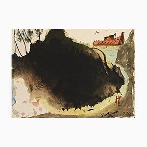Salvador Dali - A Inondation Sur Le Terrain - Lithographie- 1964