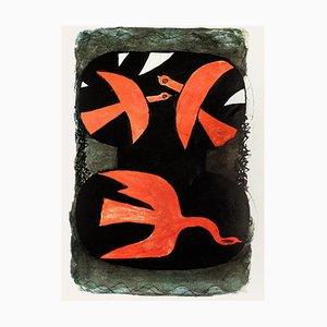 Georges Braque - Birds - Vintage Offsetdruck - 1970er Jahre