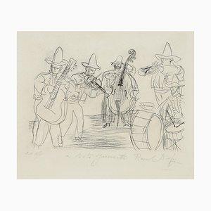 Raoul Dufy - Les Musiciens Mexicains - Radierung - 1952
