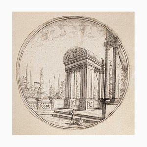 Carlo Antonio Buffagnotti - Architectural View- Etching - Early 18th-Century