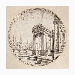 Carlo Antonio Buffagnotti - Architektonische Ansicht- Radierung - frühes 18. Jahrhundert