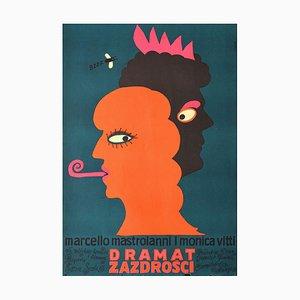 Unknown - The Drama of Jealousy Poster - Marcello Mastroianni / Monica Vitti - 1970