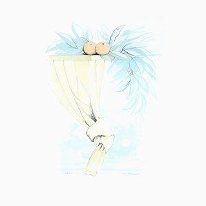Antonio Russo Sarnelli - Summer Poetry - Litografia - 1990s