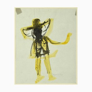 Danilo Bergamo - Character - Watercolor - 1957