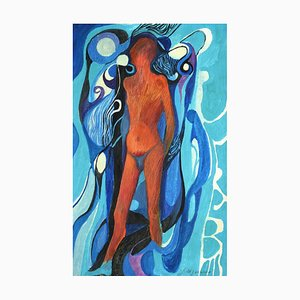 Danilo Bergamo - Figure of Woman - Mixed Media - 1970s