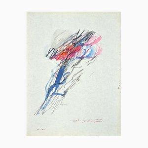 Danilo Bergamo, Wolken und Blitze, Aquarell, 1964