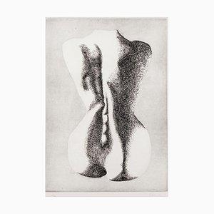 Giacomo Porzano, Silhouette of Woman, Etching, 1970s