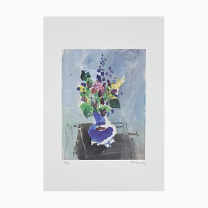 Marcello Avenali, Vase of Flowers, Lithograph, 1950