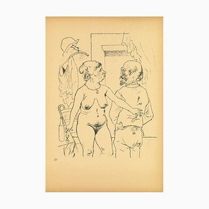 George Grosz, Nude from Ecce Homo, Offset and Lithograph, 1923
