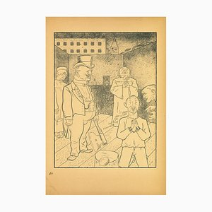 George Grosz, Execution, Offset and Lithograph, 1923